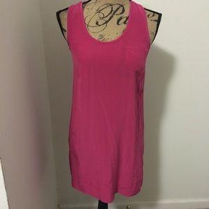 Cute hot pink tank style dress